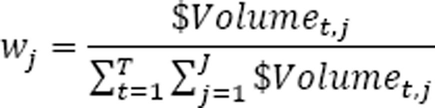 Denominator of the wj formula