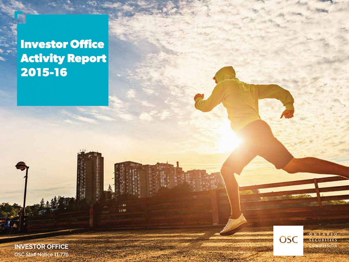 Investor Office Activity Report 2015-2016 cover page