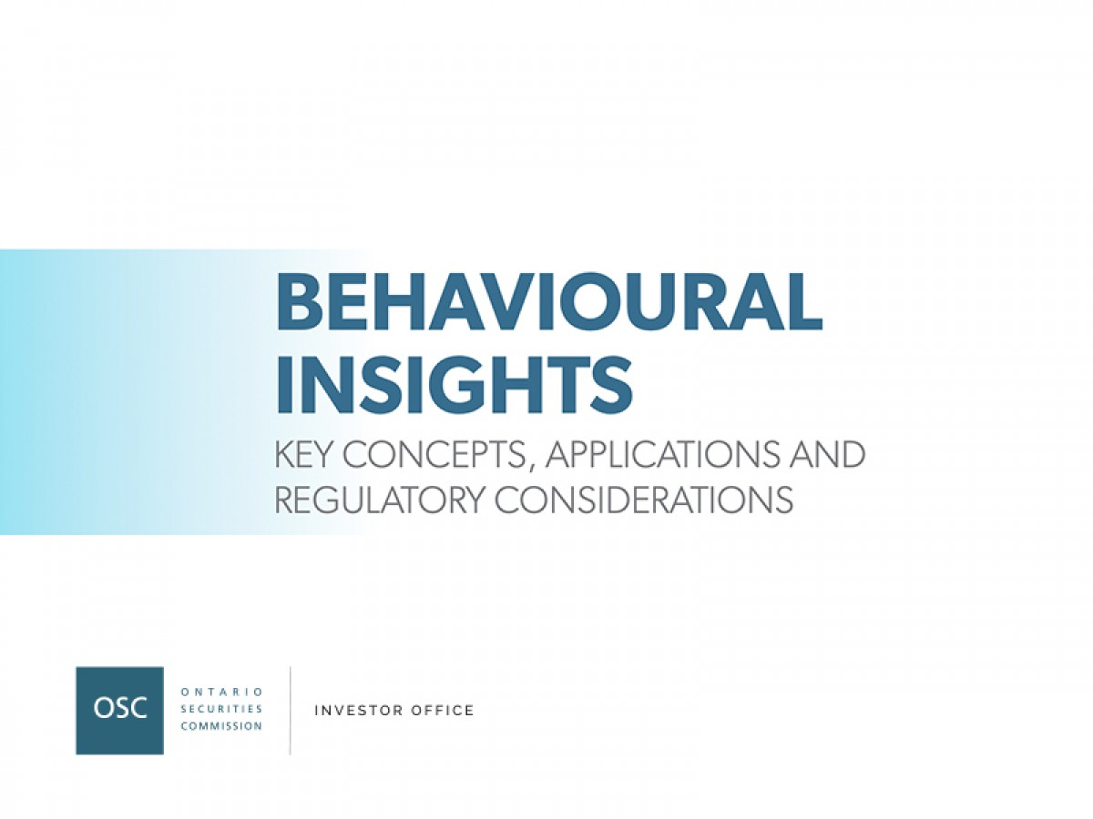 Behavioural insights report cover page
