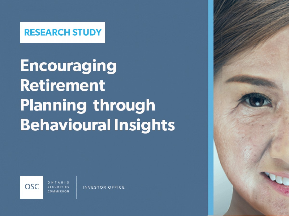 Encouraging Retirement Planning through Behavioural Insights