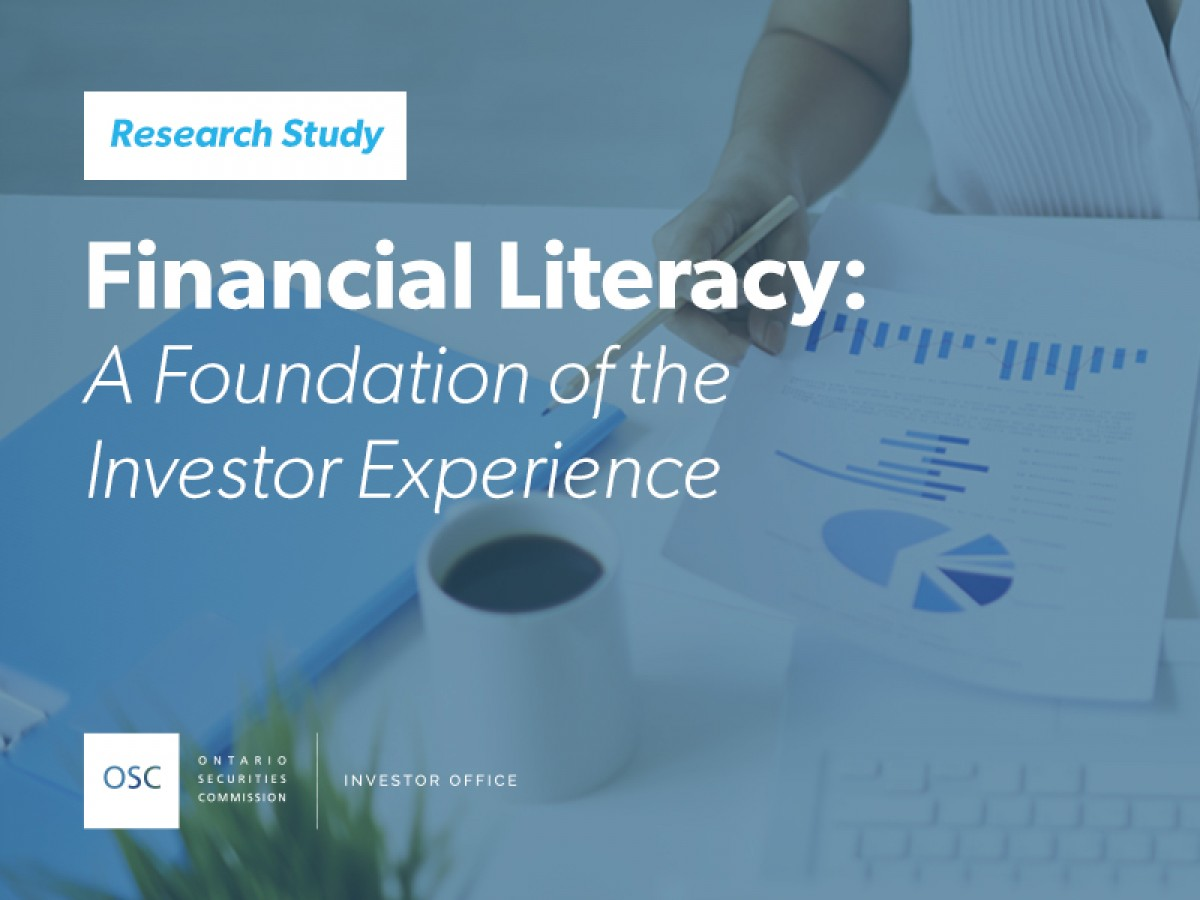 Financial literacy: a foundation of the investor experience research study cover page