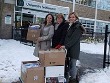 Staff donate to students
