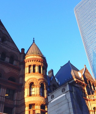 Toronto Old City Hall and Cadillac Fairview Tower